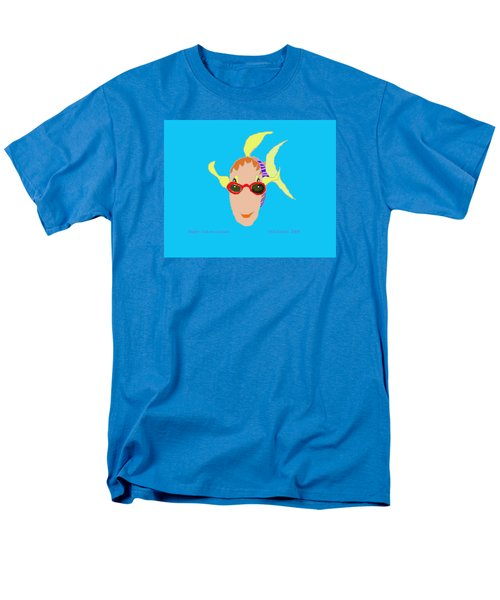 Happy Fish On Vacation Men's T-Shirt  (Regular Fit) by Fred Jinkins