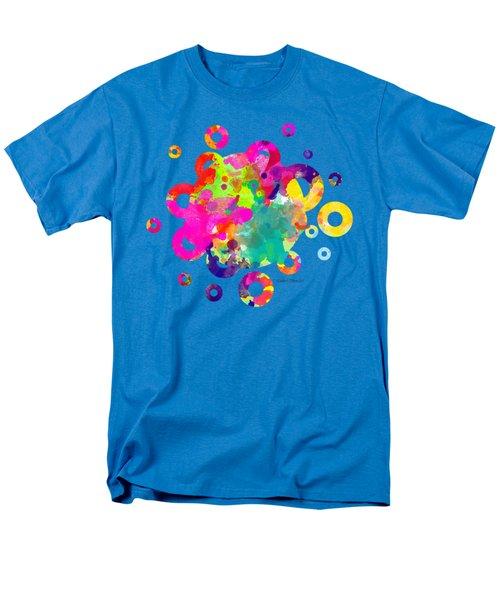 Happy Rings - Tee Shirt Design Men's T-Shirt  (Regular Fit) by Debbie Portwood