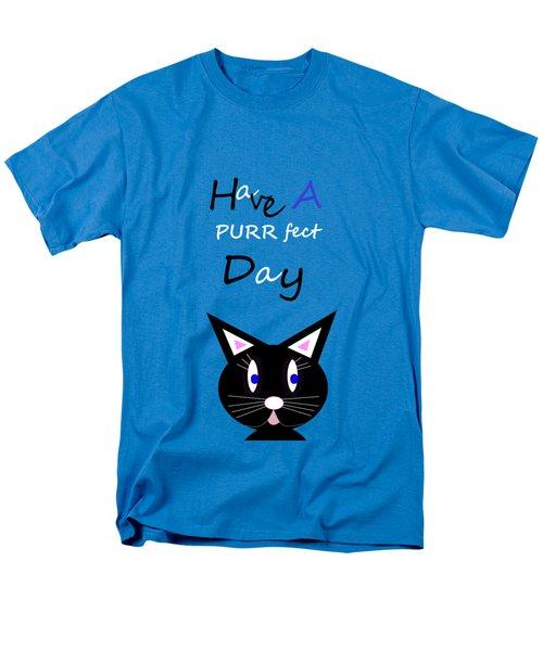 Have A Purrfect Day Men's T-Shirt  (Regular Fit) by Kathleen Sartoris