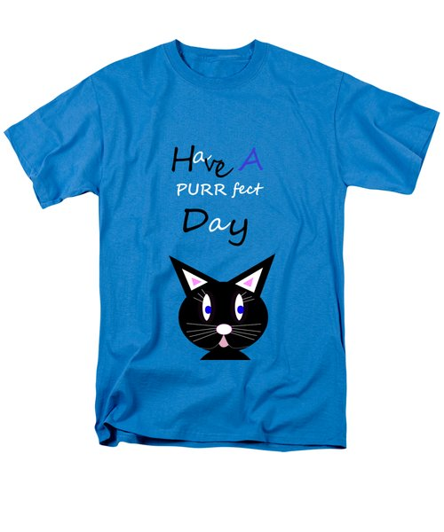 Have A Purrfect Day Men's T-Shirt  (Regular Fit)