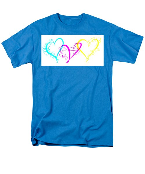 Hearts On White Men's T-Shirt  (Regular Fit) by Swank Photography