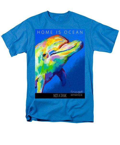 Men's T-Shirt  (Regular Fit) featuring the painting Home Is Ocean by Stephen Anderson