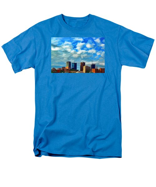 Huntsville Alabama Skyline Abstract Art Men's T-Shirt  (Regular Fit) by Lesa Fine