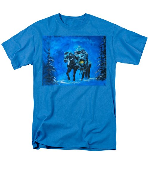 Men's T-Shirt  (Regular Fit) featuring the painting I Will Carry You by Leslie Allen