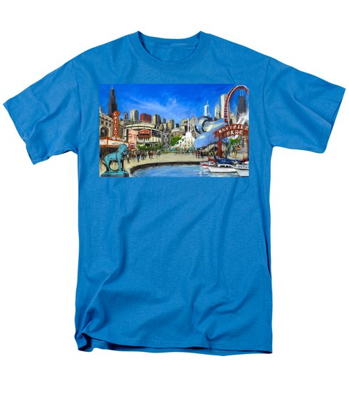 Impressions Of Chicago Men's T-Shirt  (Regular Fit) by Robert Reeves