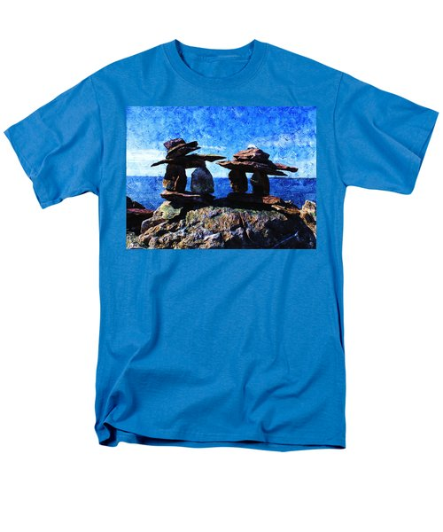 Men's T-Shirt  (Regular Fit) featuring the photograph Inukshuk by Zinvolle Art
