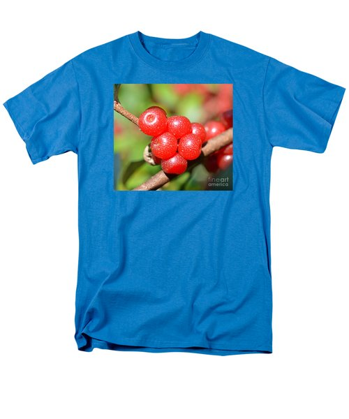 Juicy Red Men's T-Shirt  (Regular Fit) by Lew Davis