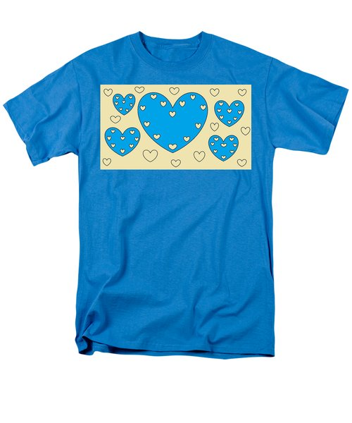 Just Hearts 4 Men's T-Shirt  (Regular Fit) by Linda Velasquez