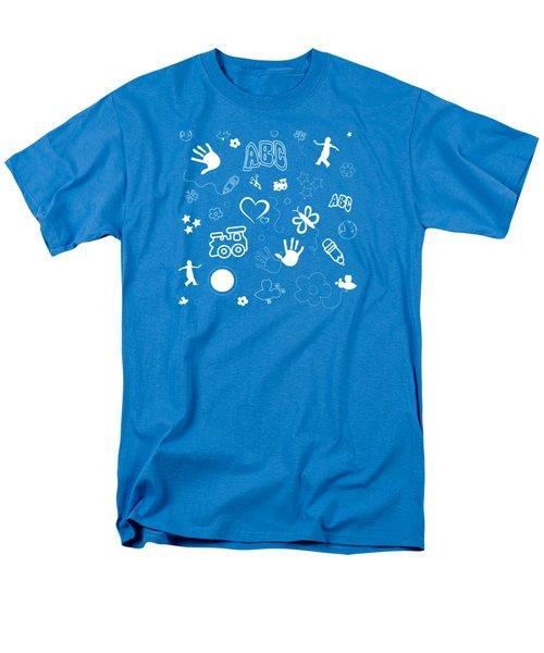 Kids Playful Background Pattern Men's T-Shirt  (Regular Fit) by Serena King