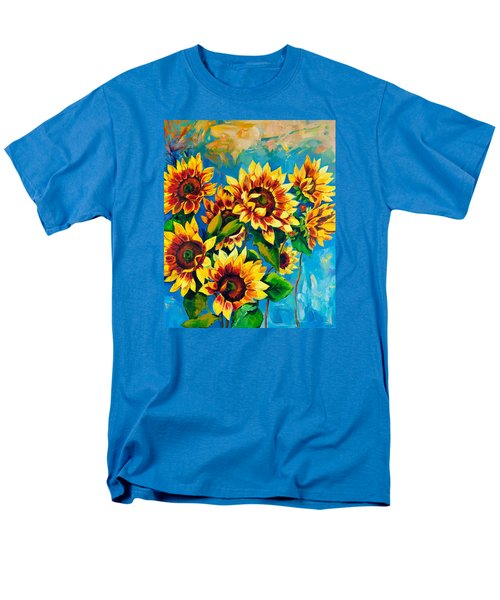Men's T-Shirt  (Regular Fit) featuring the painting Kissed By God by Karen Showell