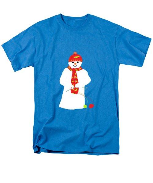 Knitting Snowman Men's T-Shirt  (Regular Fit) by Barbara Moignard