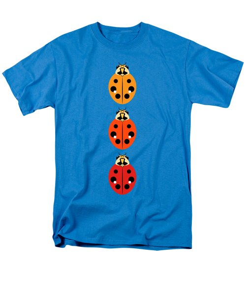 Ladybug Trio Vertical Men's T-Shirt  (Regular Fit) by MM Anderson
