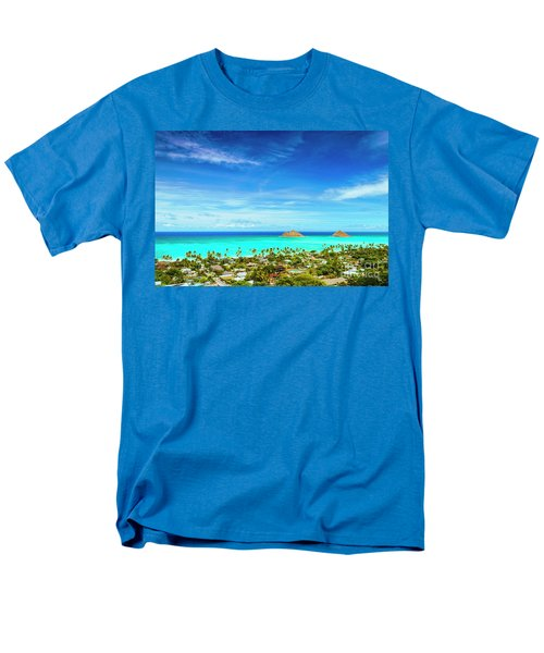 Men's T-Shirt  (Regular Fit) featuring the photograph Lanikai Beach From The Pillbox Trail by Aloha Art