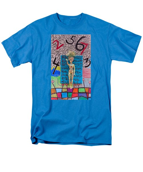 Men's T-Shirt  (Regular Fit) featuring the painting Lemon Balm Herbal Tincture by Clarity Artists