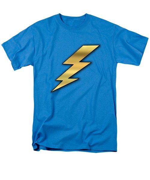 Men's T-Shirt  (Regular Fit) featuring the digital art Lightning Transparent by Chuck Staley