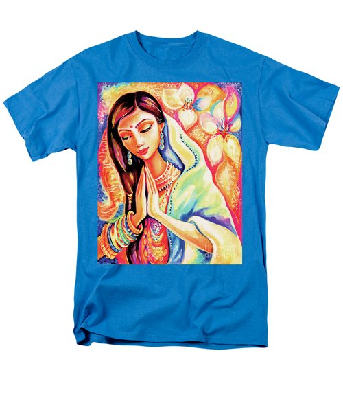 Men's T-Shirt  (Regular Fit) featuring the painting Little Himalayan Pray by Eva Campbell