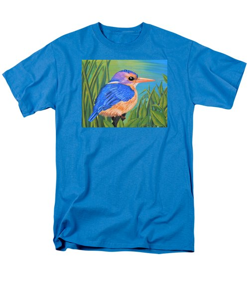Men's T-Shirt  (Regular Fit) featuring the painting Litttle King Of The Fishers by Sophia Schmierer