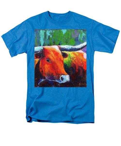 Men's T-Shirt  (Regular Fit) featuring the painting Longhorn Jewel by Karen Kennedy Chatham