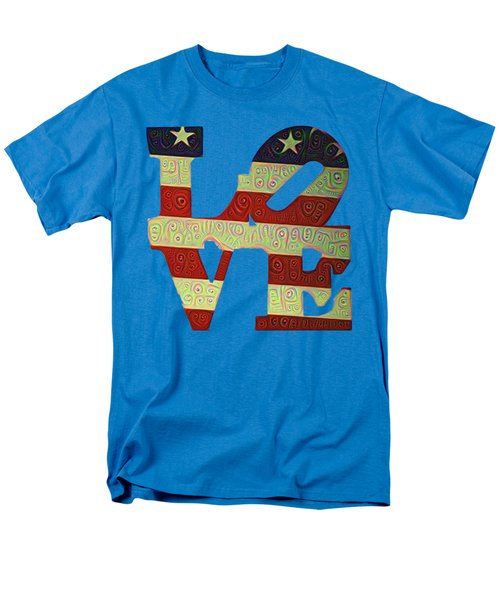 Men's T-Shirt  (Regular Fit) featuring the painting Love The Usa by Bill Cannon