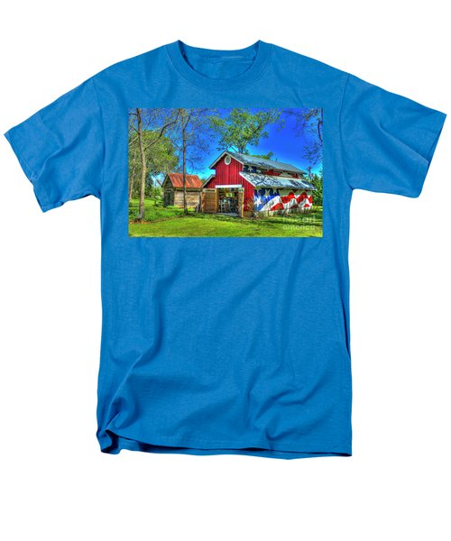 Men's T-Shirt  (Regular Fit) featuring the photograph Make America Great Again Barn American Flag Art by Reid Callaway