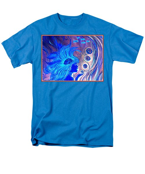 Men's T-Shirt  (Regular Fit) featuring the painting Maremaid  by Yolanda Rodriguez