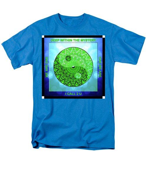 Mission Piece 1a     I Call 2 U Men's T-Shirt  (Regular Fit) by Ginny Gaura