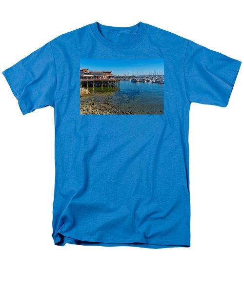 Monterey Harbor Morning Men's T-Shirt  (Regular Fit) by Derek Dean