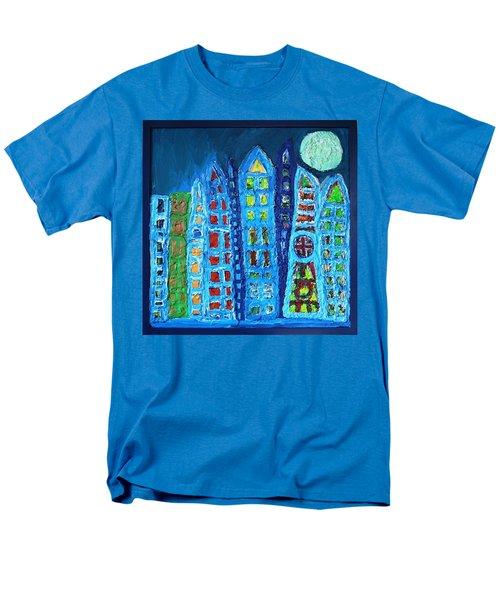 Moonlit Metropolis Men's T-Shirt  (Regular Fit) by Darrell Black