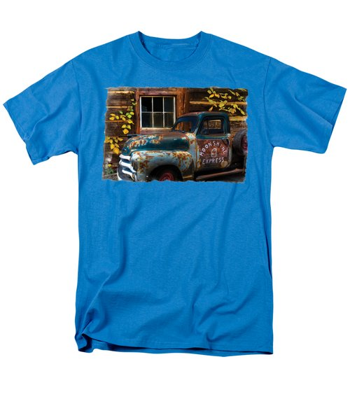 Moonshine Express Bordered Men's T-Shirt  (Regular Fit) by Debra and Dave Vanderlaan
