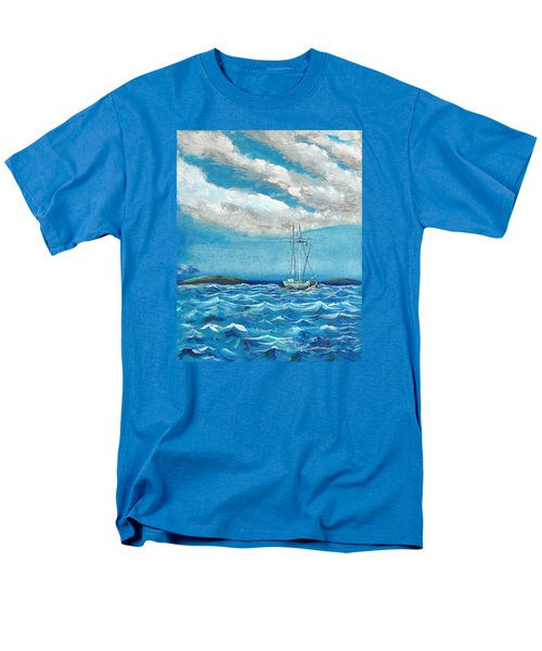 Moored In The Bay Men's T-Shirt  (Regular Fit) by J R Seymour