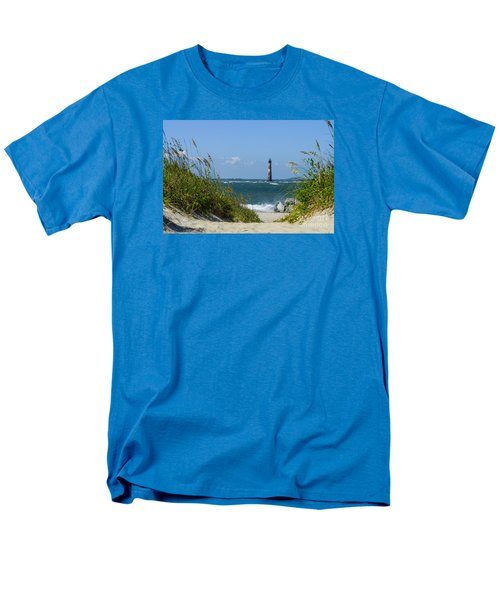 Morris Island Lighthouse Walkway Men's T-Shirt  (Regular Fit) by Jennifer White