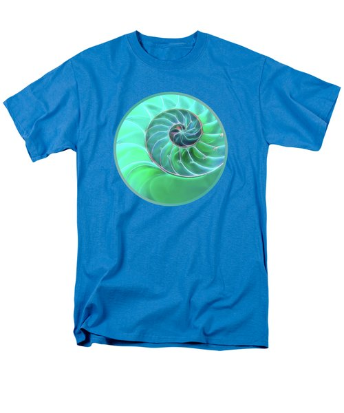 Nautilus Aqua Spiral Men's T-Shirt  (Regular Fit) by Gill Billington