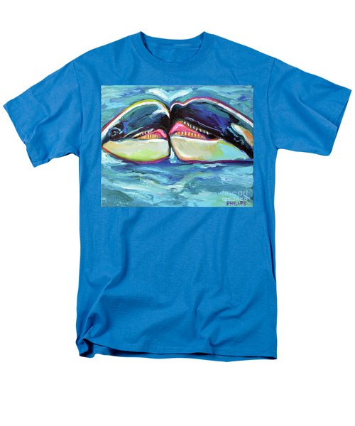 Men's T-Shirt  (Regular Fit) featuring the painting Orca Valentine by Robert Phelps