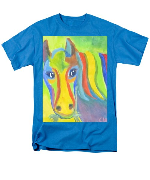 Men's T-Shirt  (Regular Fit) featuring the painting Painted Pony by Cathy Long
