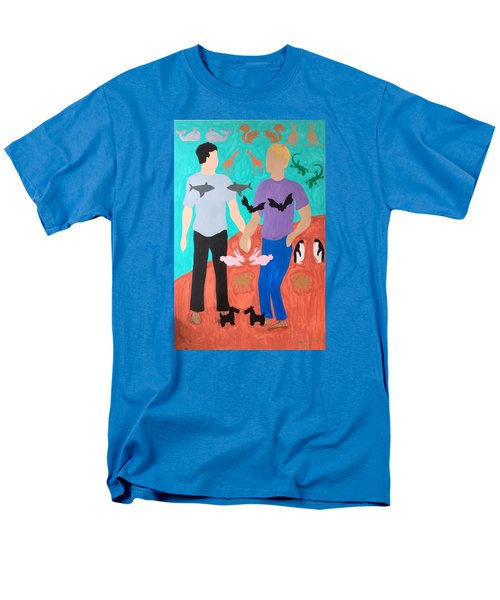 Men's T-Shirt  (Regular Fit) featuring the painting Pairs by Erika Chamberlin