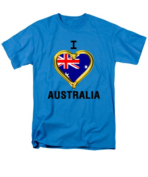 Parchment Background I Heart Australia Men's T-Shirt  (Regular Fit) by Elaine Plesser