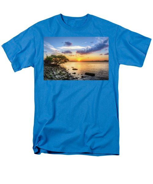 Men's T-Shirt  (Regular Fit) featuring the photograph Peaceful Evening On The Waterway by Debra and Dave Vanderlaan