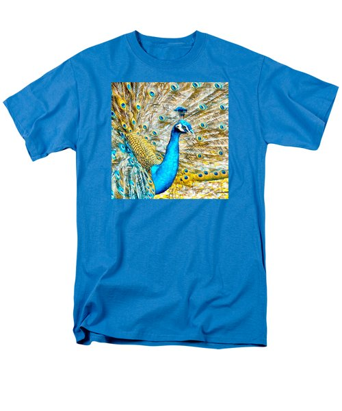 Peacock Paradise Men's T-Shirt  (Regular Fit) by Charmaine Zoe