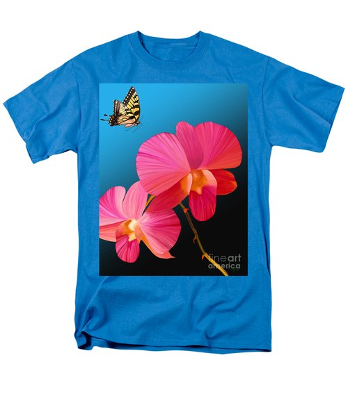 Pink Lux Butterfly Men's T-Shirt  (Regular Fit) by Rand Herron