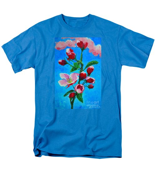 Men's T-Shirt  (Regular Fit) featuring the painting Pink Spring by Ana Maria Edulescu