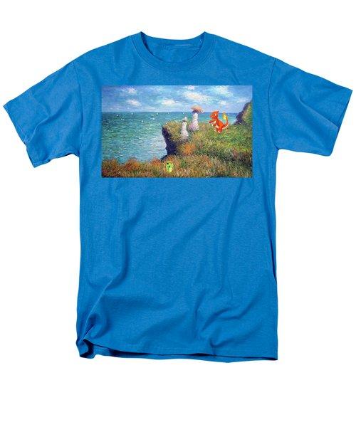 Men's T-Shirt  (Regular Fit) featuring the digital art Pokemonet Seaside by Greg Sharpe