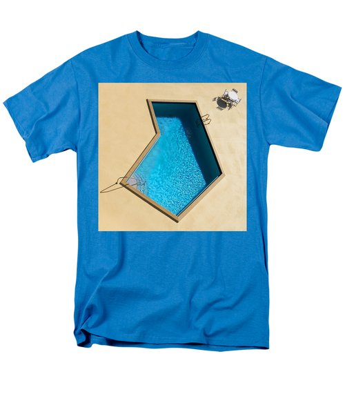 Men's T-Shirt  (Regular Fit) featuring the photograph Pool Modern by Laura Fasulo