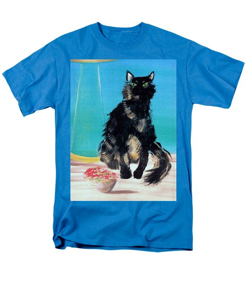 Men's T-Shirt  (Regular Fit) featuring the painting Portrait Of Muffin by Denise Fulmer