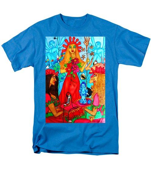 Men's T-Shirt  (Regular Fit) featuring the painting Princess Countrywoman. by Don Pedro De Gracia