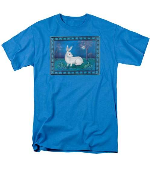 Men's T-Shirt  (Regular Fit) featuring the painting Rabbit Secrets by Terry Webb Harshman