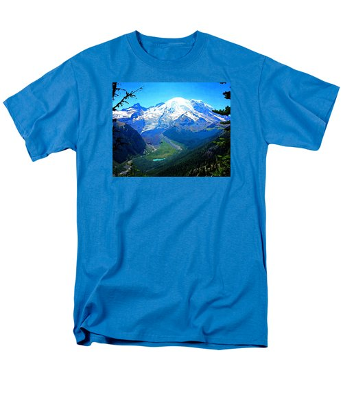Ranier And Little Tahoma Men's T-Shirt  (Regular Fit) by Timothy Bulone