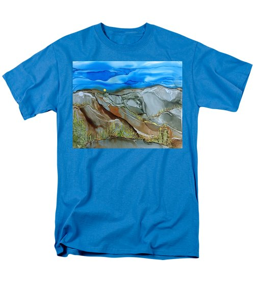 Men's T-Shirt  (Regular Fit) featuring the painting Rugged by Pat Purdy