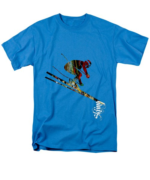Skiing Collection Men's T-Shirt  (Regular Fit) by Marvin Blaine