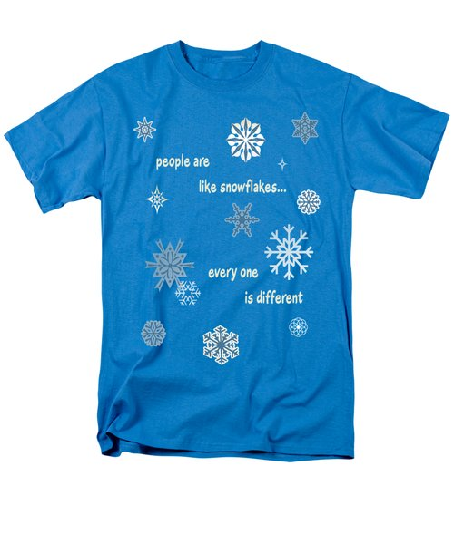Snowflakes 5 Men's T-Shirt  (Regular Fit) by Methune Hively