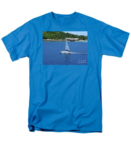 Men's T-Shirt  (Regular Fit) featuring the photograph South Sea Sail by Phyllis Kaltenbach